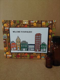 In The City Stampin Up stamp set card by Melodie