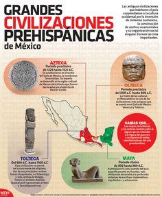 Conoce las cuatro culturas más importantes del México prehispánico, en nuestra #Infographic