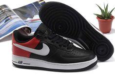 new styles 487a0 65ae6 DÉPÊCHEZ-VOUS NIKE AIR FORCE 1 LOW HOMME NOIR ROUGE BLANC Nike Air Force  Homme