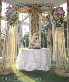 Wedding Cake Display Chuppah