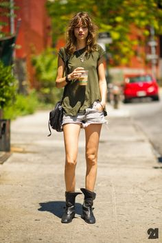 could not rock more. Freja #offduty in NYC. #FrejaBehaErichsen