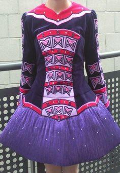 Striking Pink Kilkenny Creations Irish Dance Dress Solo Costume For Sale