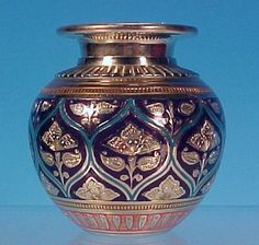 Image detail for -Vintage Exotic Silver & Enamel POSY FLOWER VASE India from ...