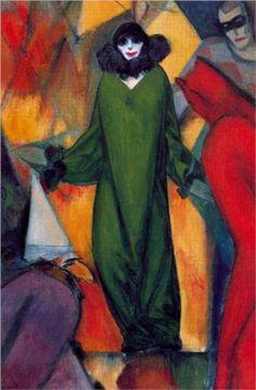 """Albert Bloch-""""the Green Dress"""" 1913"""