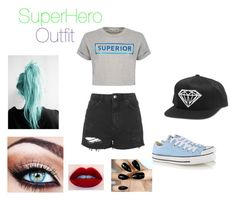 """""""My SuperHero Outfit"""" by onedirection-5sos-preferences122 ❤ liked on Polyvore featuring beauty, Topshop, Être Cécile and Converse"""