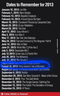 IRON MAN! THE HOBBIT! THOR! SEA OF MONSTERS! I DON'T EVEN KNOW WHAT I'M MORE EXCITED ABOUT!!!!!!