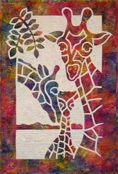 Giraffe 2 Fabric Applique Pacific Rim Quilt Pattern NEW #PacificRimQuiltCompany