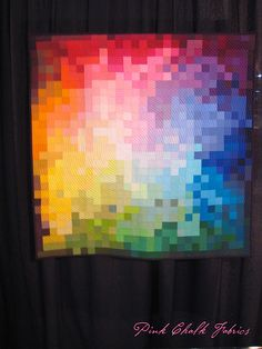 Quilt Market Fall 2012 - Modern Quilt Guild Display - Pixelated Color Wheel by Kati Spencer