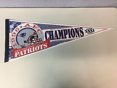 e03e64825a8 NEW ENGLAND PATRIOTS 1996 SUPER BOWL 31 AFC CHAMPIONS NFL FOOTBALL PENNANT New  England Patriots Football