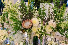 Beautiful flowers in a Perrier-Jouët event.
