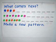 Math Warm-Ups: Patterns - Kindergarten Kindergarten Circle Time Activities, Preschool Learning Activities, Preschool Math, Math Classroom, Teaching Math, Maths, Measurement Activities, Preschool At Home, Teaching Ideas