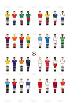 Icons of international football players International Football, World Cup 2018, Baby Feet, Football Players, Football Things, Vector Free, Memories, Soccer Players, Memoirs