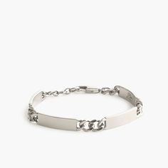 J.Crew Gift Guide: men's ID bracelet with four tags.