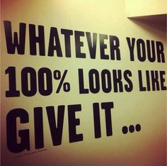 What does your 100% look like? Guaranteed once you start giving 100% then you can amp it up and soon you are doing things at a level you NEVER dreamed of!  #100% #workhard #motivation #fitnessmotivation #health #life #allin