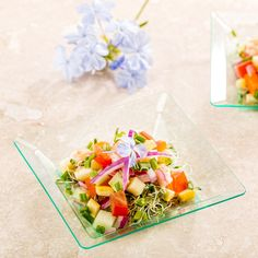 Enhance your savory dishes with our in Seagreen Square Plastic Plates. These plastic square dishes are conveniently disposable and recyclable. Sold in a 100 count box. Appetizer Plates, Appetizers, Pop Art Party, Restaurant, Plastic Plates, Savoury Dishes, Counting, Dinnerware, The 100