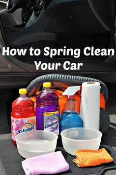 Diy: How to Spring Clean Your Car