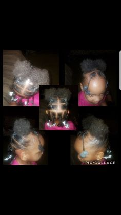 Simple ponytails with puffs Toddler Hairstyles Girl ponytails puffs simple Black Baby Girl Hairstyles, Cute Toddler Hairstyles, Cute Little Girl Hairstyles, Girls Natural Hairstyles, Cute Hairstyles For Short Hair, Natural Hair Styles, Kid Braid Styles, Undercut Hairstyles, Kid Hairstyles