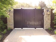 wood privacy gate