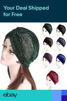 5578a26013b Muslim Women Hat Islam Velvet Rhinestone Turban Indian Chemo Head Wrap  Headscarf