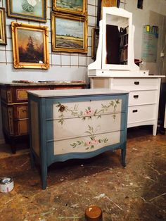 Furniture painted in the workshop 2014