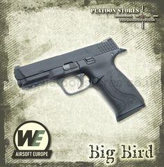WE Big Bird [Black] GBB http://www.platoonstores.co.uk/airsoft-equipment/airsoft-pistols/professional/we-big-bird-black.html