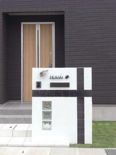 シンプルデザイン門柱