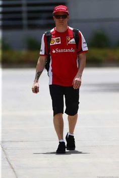 In the Paddock w/Kimi Raikkönen at the 2015 Bahrain #F1 Grand Prix