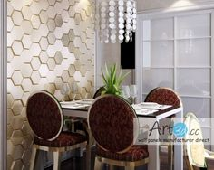 Decorative Wall Panels Online Shop: wall cladding, wood wall panels, leather wall panels and other decorative wall covering panels factory direct. Decorative Wall Panels, 3d Wall Panels, Wood Panel Walls, Dining Room Wall Decor, Entryway Wall, Dining Room Design, 3d Wandplatten, Leather Wall Panels, Wall Design