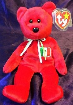 TY Beanie Babies Baby OSITO The Red Bear MWMT No   In Tush Tag RARE! 25d309c340ea