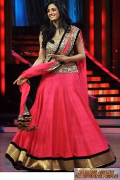 Pink Sridevi Replica Lehenga Fabric - Pink Chiffon with Nice Border and Small Balls (danglings) Blouse - Zari And Sequins Worked on Net (semi Stitch) Lehenga - Bhagal Puri Silk with nice border and santoon inner More details  Reference : VLR5878 http://valehri.com/bollywood-lehengas/551-pink-sridevi-replica-lehenga.html