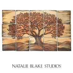 Woodwinds Autumn Tree Of Life For Online At Natalie Blake Studios Backsplash Or
