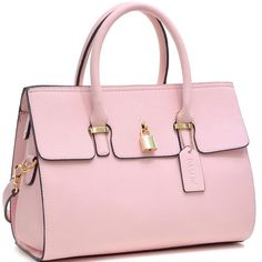 Take this trendy fashion tote along and keep all of your important items in one convenient place. The high-quality faux-leather material is soft to the touch and is beautifully accentuated with zipper Handbags Online, Online Bags, Purses And Handbags, Bags Online Shopping, Shopping Bag, Leather Satchel, Leather Handbags, Cute Purses, Pink Purses