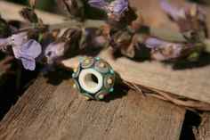 Guarda questo articolo nel mio negozio Etsy https://www.etsy.com/listing/229848075/lampwork-bead-wide-hole-handmade-by