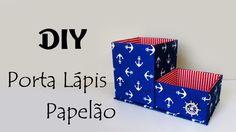DIY: COMO FAZER PORTA LÁPIS DE PAPELÃO   Ideias Personalizadas - DIY