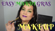 Easy Mardi Gras Makeup Tutorial - UD Spectrum palette & Violet Volt LipS...