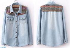 "material:cotton  color:light blue, dark blue  one size(inch):  length:21""-24""  bust:37""-38""  shoulder:14""  sleeve:22"""