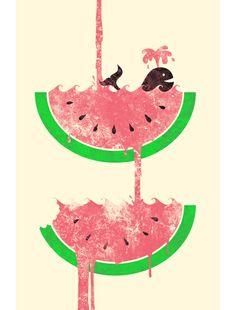 cute vintage looking watermelon
