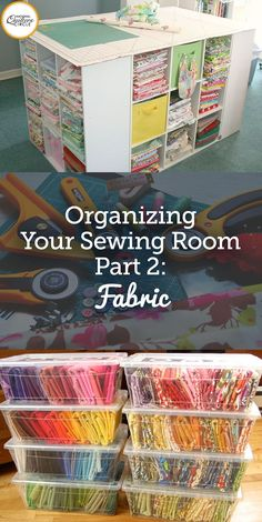"""Have you ever looked around your sewing area and thought, """"There has to be a better way!"""" Personally, I've been struggling with a bit of fabric disorganization as of late. I'm always so busy finishing a quilt or cutting out the next project that I often start piling up fabric on the side of my cutting table. Well today I thought, """"Enough is enough!""""! I am going to find some sure fire ways to stay organized and neat even while I am in process of creating my next quilt."""