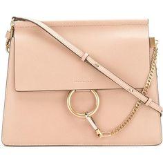 Chloé Faye shoulder bag ($1,855) ❤ liked on Polyvore featuring bags, handbags, shoulder bags, beige, shoulder bag handbag, chloe purses, red shoulder bag, shoulder handbags and chloe handbags