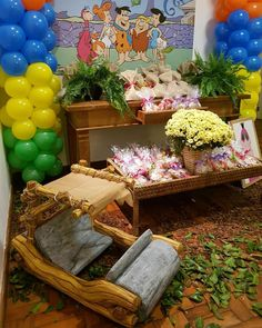 #flintstones #festaflintstones #decoracaopersonalizada #dicasafesta #festainfantil #iabadabadu
