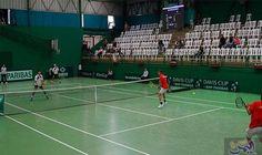 ميشال سعادة يحقق لقب بطل كأس لبنان كرة التنس Davis Cup Tennis Court Tennis