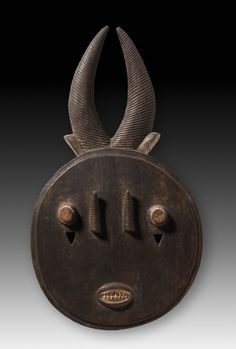Face Mask | Face Mask, late 1800s-early 1900s      Guinea Coast, Ivory Coast, Baule , late 19th-early 20th century      wood, Overall - h:40.70 cm (h:16 inches). African Love, Contemporary African Art, Head Mask, African Traditions, Cleveland Museum Of Art, Inuit Art, Ghana, Masks Art, Ivory Coast