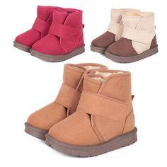 Дэн Руи Сеул ребенок хлопка мягкой обуви теплая зима мягкой подошве Детская обувь, малыш мальчиков и девочек короткие ботинки снега