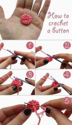 How To Crochet Button - 10 free tutorials