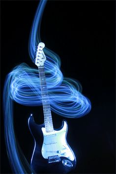 Animated Blue Guitar music colorful blue guitar gif rock and roll spinning