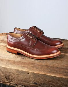 81940e24be76 Grenson Sid Long Wing Brogue - Honey Men Tumblr
