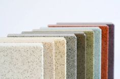 Recycled glass and cement countertops