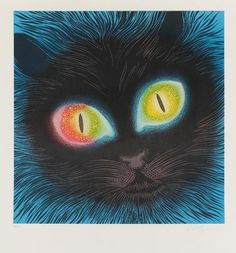 Victor VASARELY [hongrois] (1908-1997) Chat Lithographie. Signée