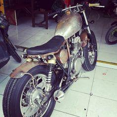 Ready for paint #gsx250 #bobber #custom #kustom #FMworkz #shinko #suzuki #indonesia