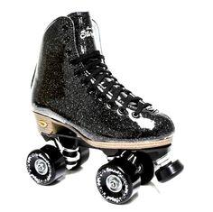 Stardust Black Glitter Skates – Lucky Skates